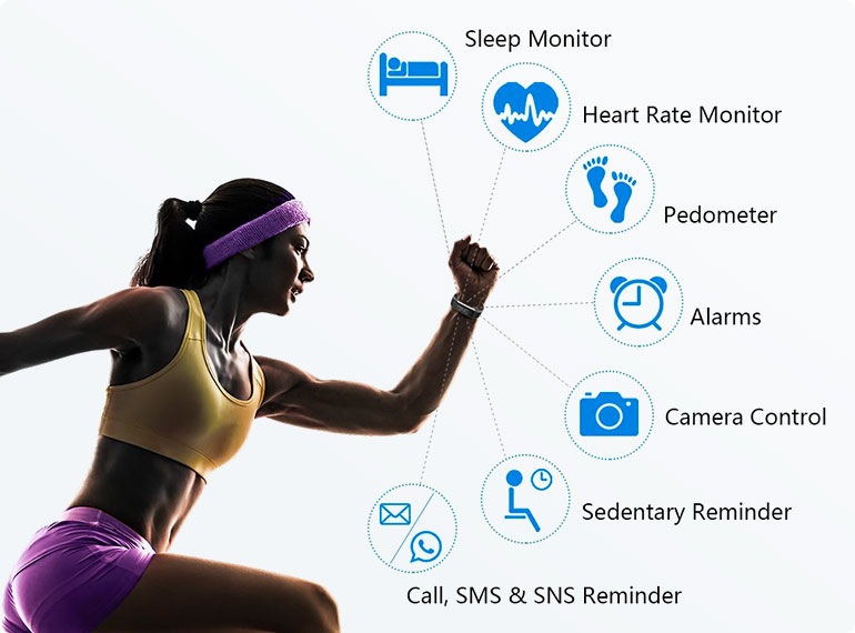 ActiV8 Fitness Tracker features