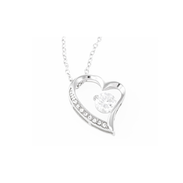 janssen forever love necklace laying
