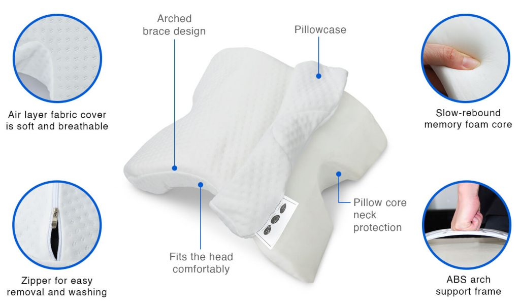 neck relax couple pillow features